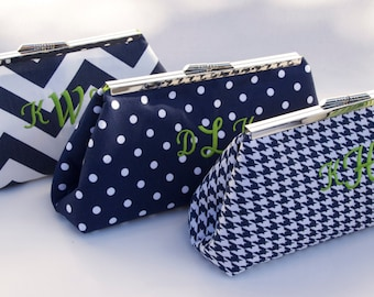 Personalized Bridesmaids Gift-Custom Bridal Party Handbag Clutch Set- Design your Own in various colors and patterns