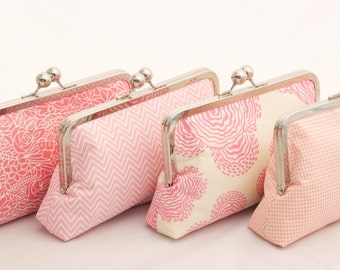 Pink Spring Wedding Party Gift Clutch Handbag Design a gift for your bridesmaids or bridal party