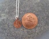 Miniature Penny Necklace - Miniature Penny Charm - Penny Charm Necklace - Copper Penny - Lucky Jewelry - Meaningful Jewelry -