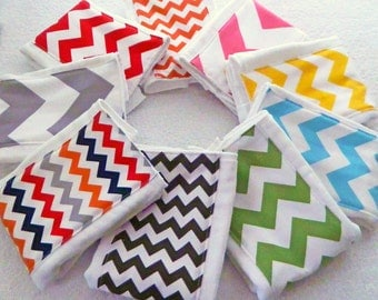 Chevron Baby Burp Cloth- single - Your Choice - Boy or Girl