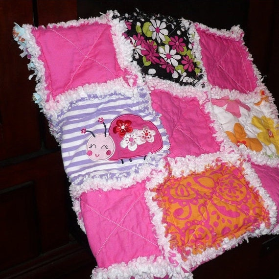 Keepsake Rag Quilt - Custom Baby Clothes