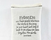 Best Friend Shower Hostess Gift, Long Distance Friendship Pillow, Friends Quote Lavender Sachet