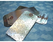 Shipping Tags - No.5  Aluminum Foil Laminated to 13 Point Heavy Stock -  set of (8) Embossable Tags