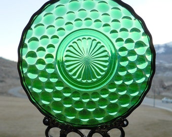 Emerald Bubble - Antique saucer given new life as a Windchime