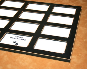 12) 4x6 Multi picture frame, first year frame, Collage photo frame, Multiple School year days, distressed Window pane frame, Choose color