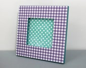 Purple and Teal Picture Frame Magnet