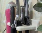 five place hair blow dryer curling iron brush 1 and one half flat iron holder wood