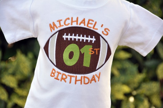 Personalized Football Birthday Shirt