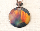NEW - Fire Painted Copper Pendant