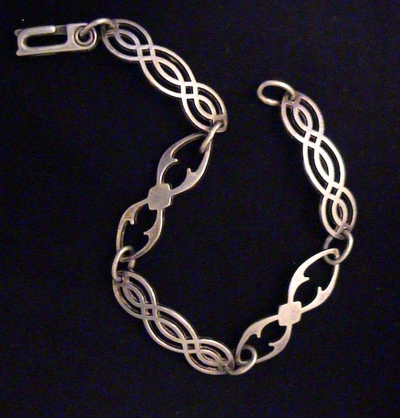 Vintage Sterling Silver Bracelet, Signed IC