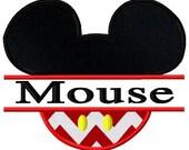 Split Mouse Applique Embroidery Design