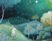 Art print titled ,'Starlight'  from an original painting by Amanda Clark