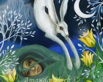 Ostara . Art print by Amanda Clark.