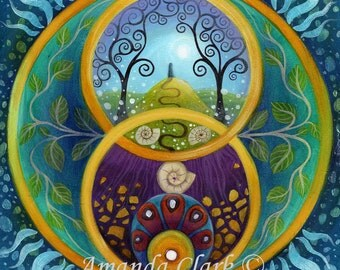 An art print of Chalice Well by Amanda Clark
