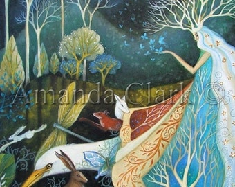 Limited edition giclee of The Gathering by Amanda Clark.