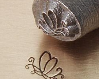 Swirly BUTTERFLY - 6mm Metal Design Punch for Personalized Stamped Jewelry Blanks
