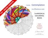 Contemplation DIGITAL Mandala Coloring Book - PDF VERSION