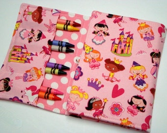 Crayon Tote On The Go Crayon Wallet - Pink Princess