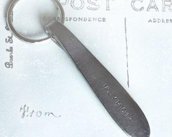 Spoon Key Chain Silverware Key Ring Spoon Keychain Molly Pitcher