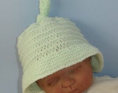 Knitting Pattern Digital pdf download - Baby Big Brim Stripey Topknot Beanie knitting pattern- MADMONKEYKNITS