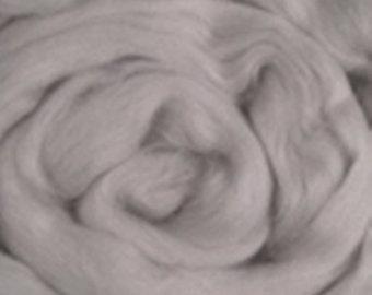 Merino Wool Roving, Pewter, 4 ounces