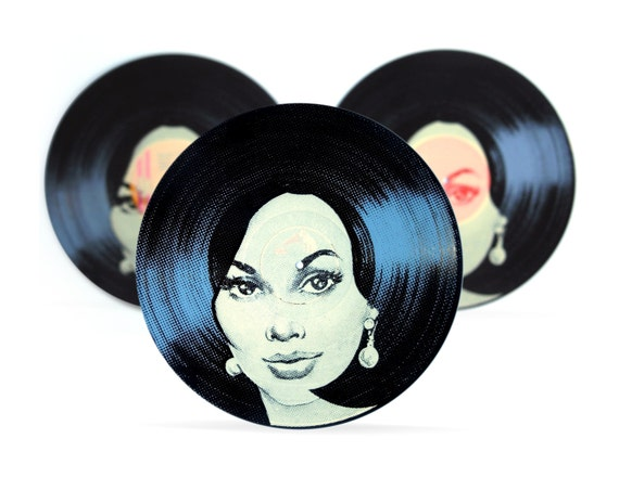 Vinyl Record Art Vintage Hair Retro Record Two By