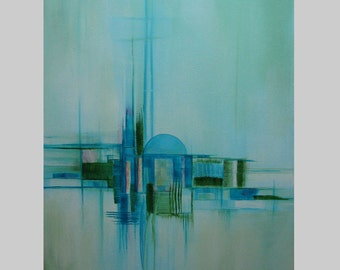 Modern Abstract Expression Art Original Contemporary Painting Sanctuary9