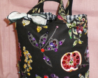 Black Purse Sparkle Butterfly Exotic Jewel Handbag