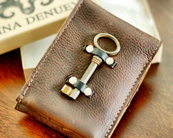 leather phone case wallet with change purse - phone sleeve phone wallet card holder coin purse distressed leather wallet
