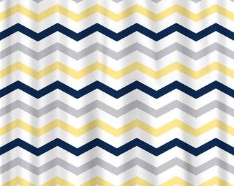 Custom Colors Shower Curtain Chevron multi stripe design