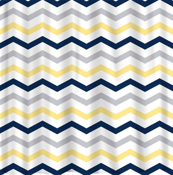 Custom Colors Shower Curtain Chevron Multi Stripe Design