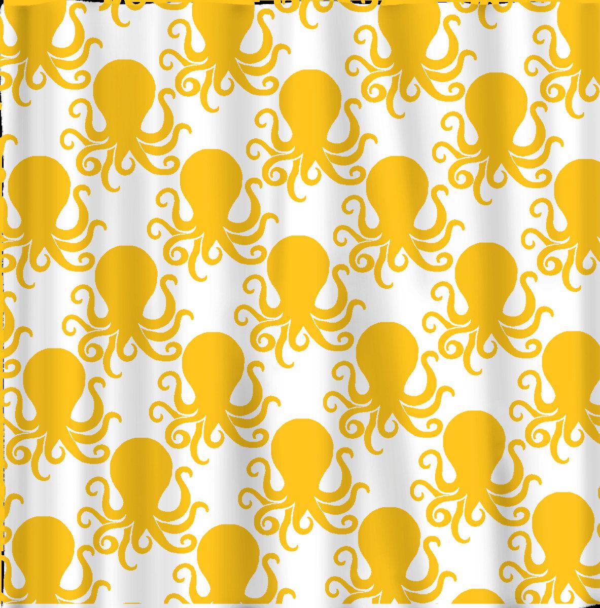 Octopus shower curtain etsy -