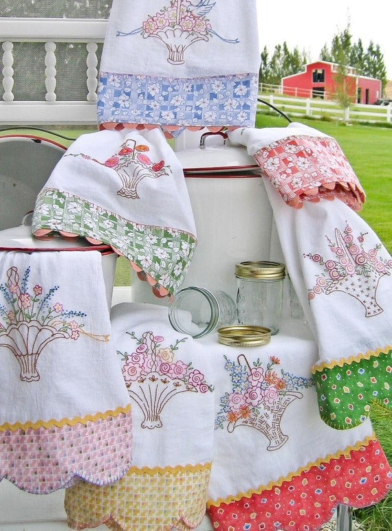 Grandma 39 s tea towels embroidery pattern by meg hawkey of - Free embroidery designs for kitchen towels ...