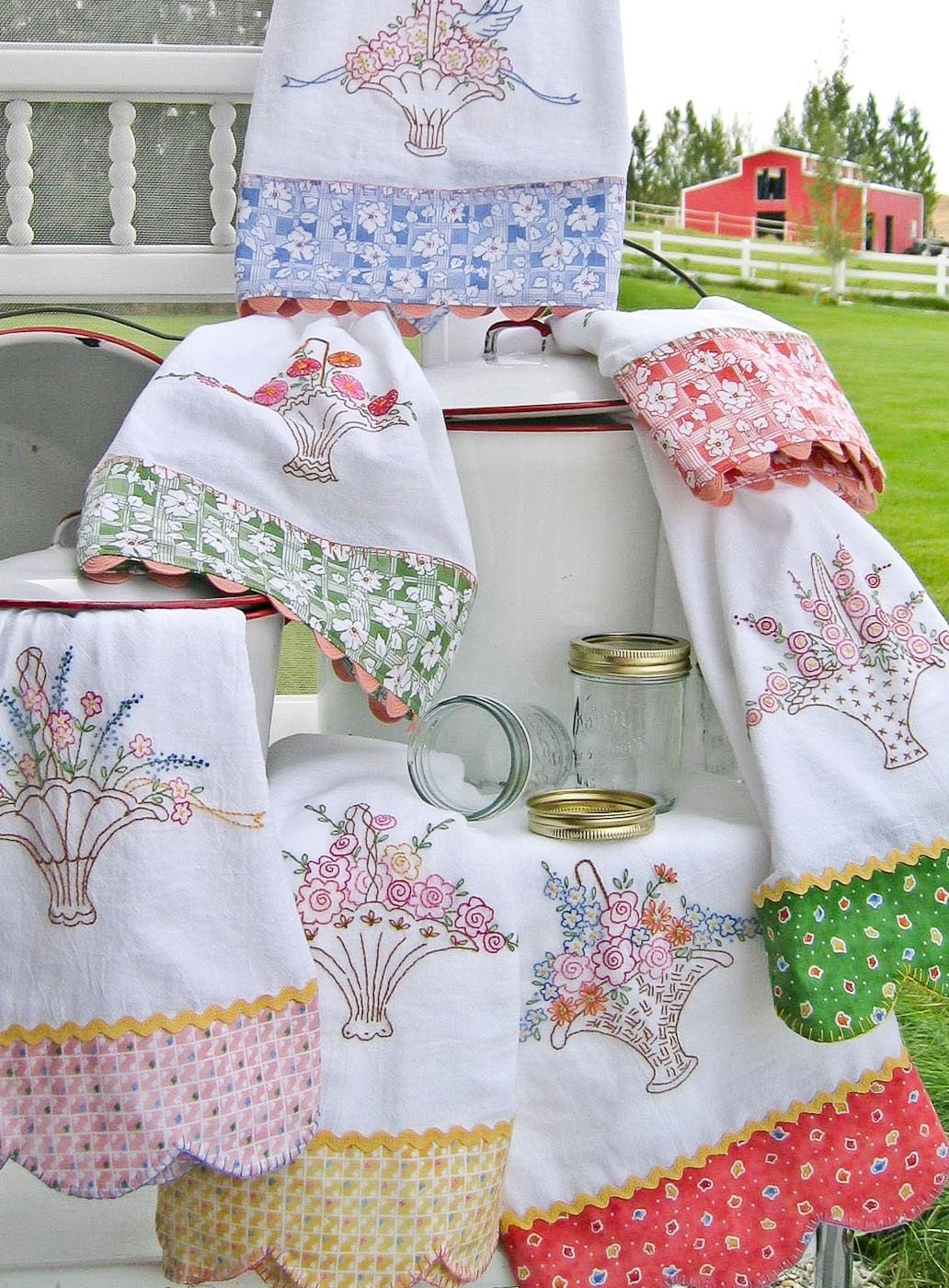 embroidery designs kitchen towels s tea towels embroidery pattern by by 7053