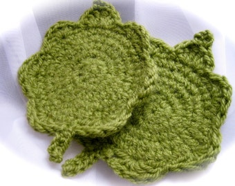 set of 4 Twig coasters, 100% cotton or felted wool options available
