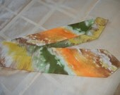 Ascot Vintage neck scarf in orange harvest gold and avocado