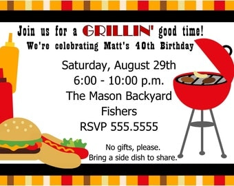 Trust image pertaining to free printable cookout invitations