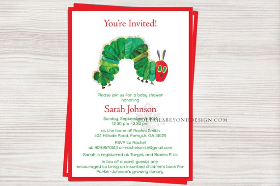 very hungry caterpillar baby shower invitation, Baby shower invitations