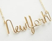 Gold New York Necklace in 14k Gold Filled. Urban Chic