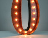 """Circus Light Number 0 - Rusty - 24"""" Vintage Marquee Lights - The Original"""