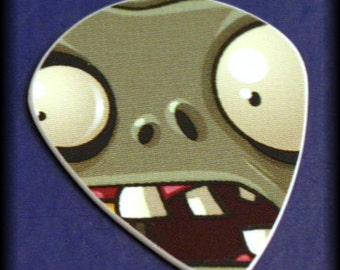 Limited Edition-Plant Vs. Zombie-Guitar Pick-Upcycled Gift Card-Thin Guitar Pick-VERY RARE