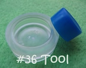 "Cover Button Assembly Tool - Size 36 (7/8"") diy notion button supplies rubber hand press non machinery"