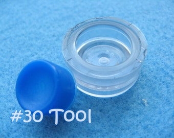 "Cover Button Assembly Tool - Size 30 (3/4"") diy notion button supplies rubber hand press non machinery"