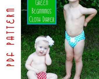 PDF Sewing Pattern: The Green Beginnings Cloth Diaper (Instant Download)