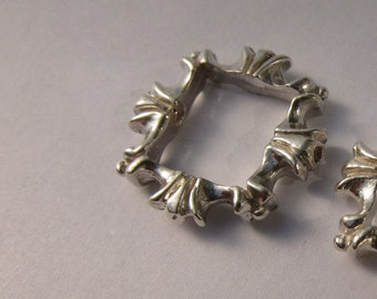 Silver Bead Frame For 8mm Bead