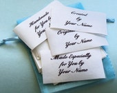 15 Custom Clothing Labels - Crafters - Handiwork Craft Supply