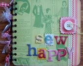 Mini Chipboard Album -- Sew happy