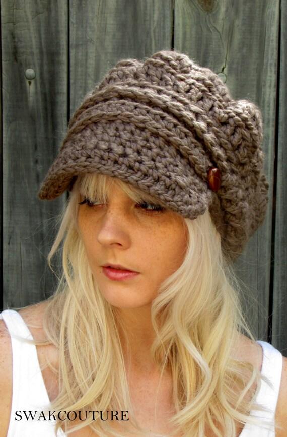 tricoter un bonnet casquette femme