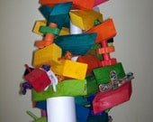 Total Chaos Large Bird Toy ~ Wood Toy ~ Cockatoo Toy ~ Parrot Toy ~ Macaw Toy