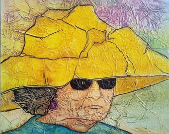 Print MIAMI YELLOW HAT Lynne French Signed